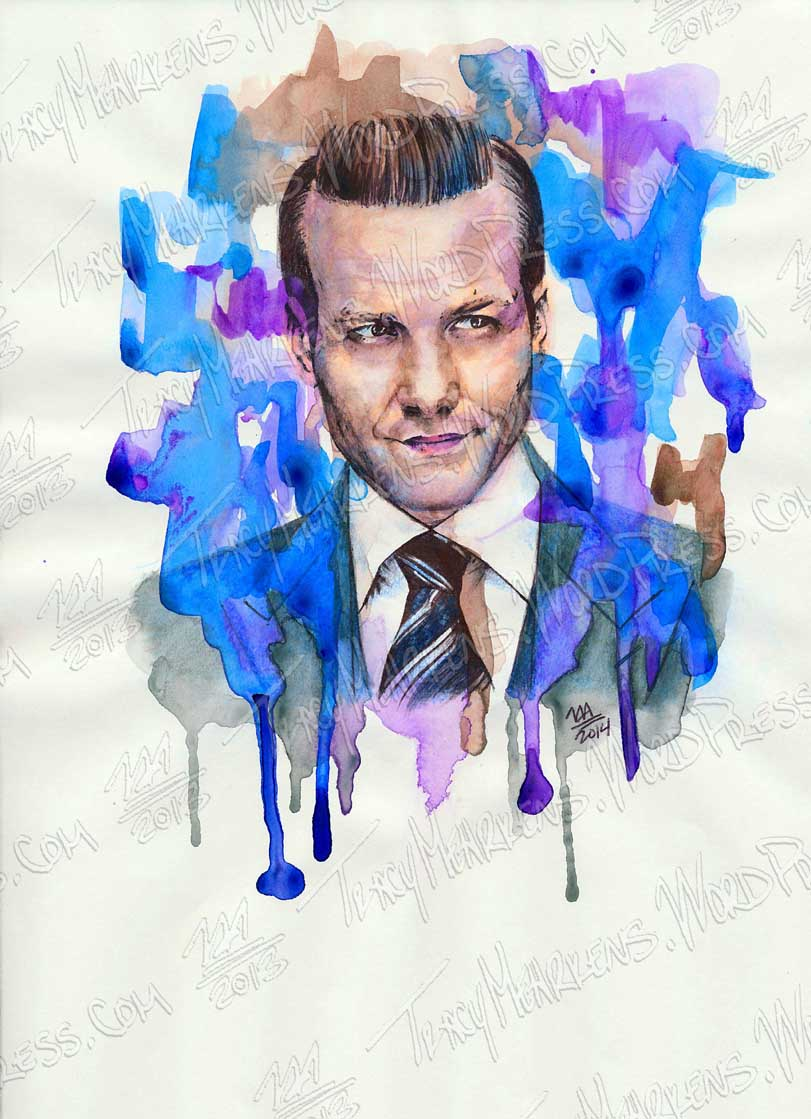 Copy of Harvey. Watercolor, Ink on Paper. 9x12 in. 2014.