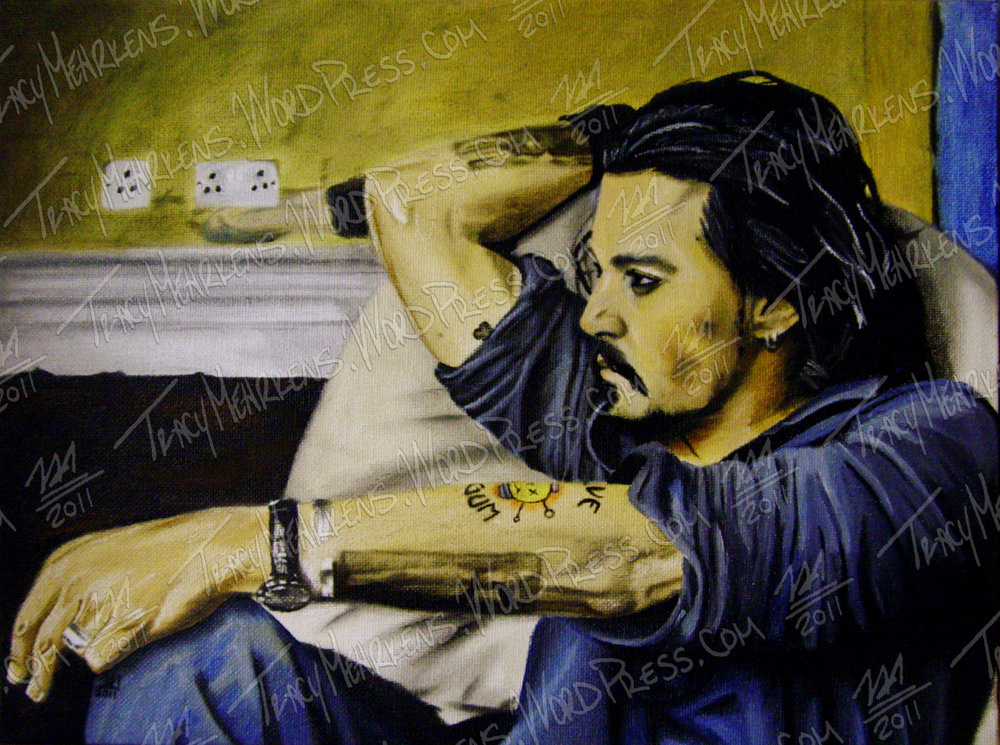 Copy of Johnny Depp. Oil on Canvas Panel. 12x9 in. 2011.