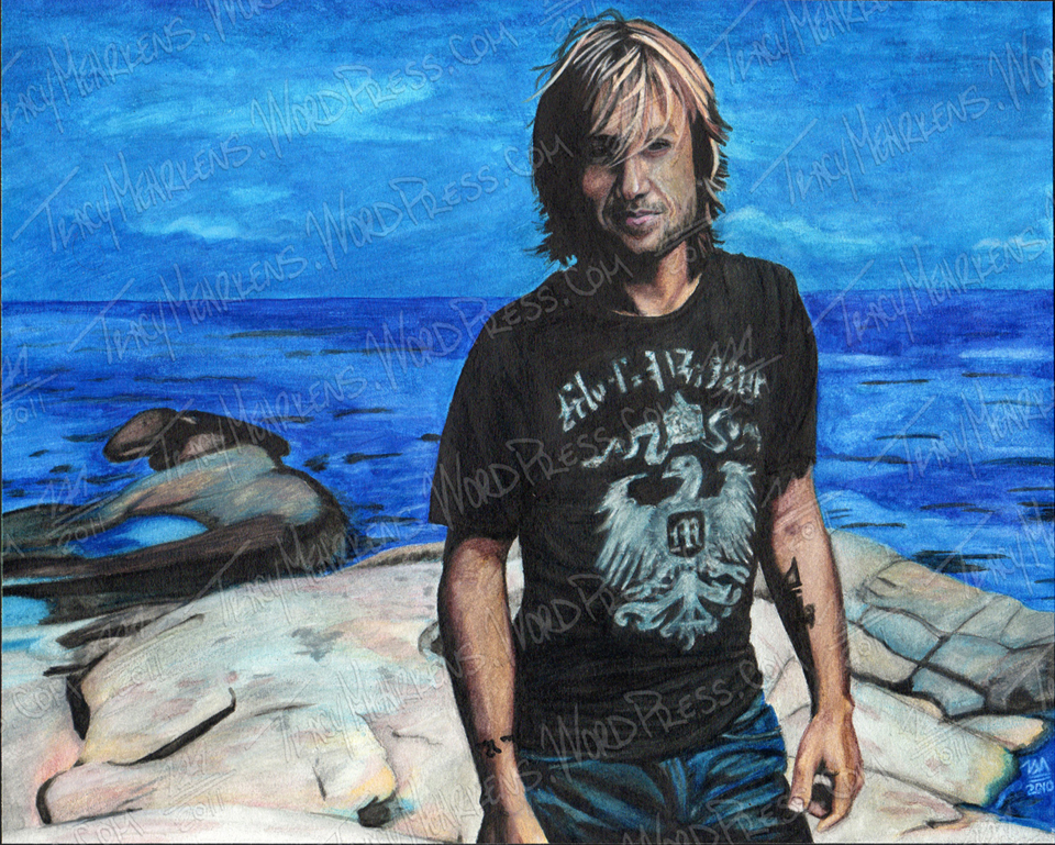 Copy of Keith Urban. Watercolor on Paper. 10x8 in. 2010.