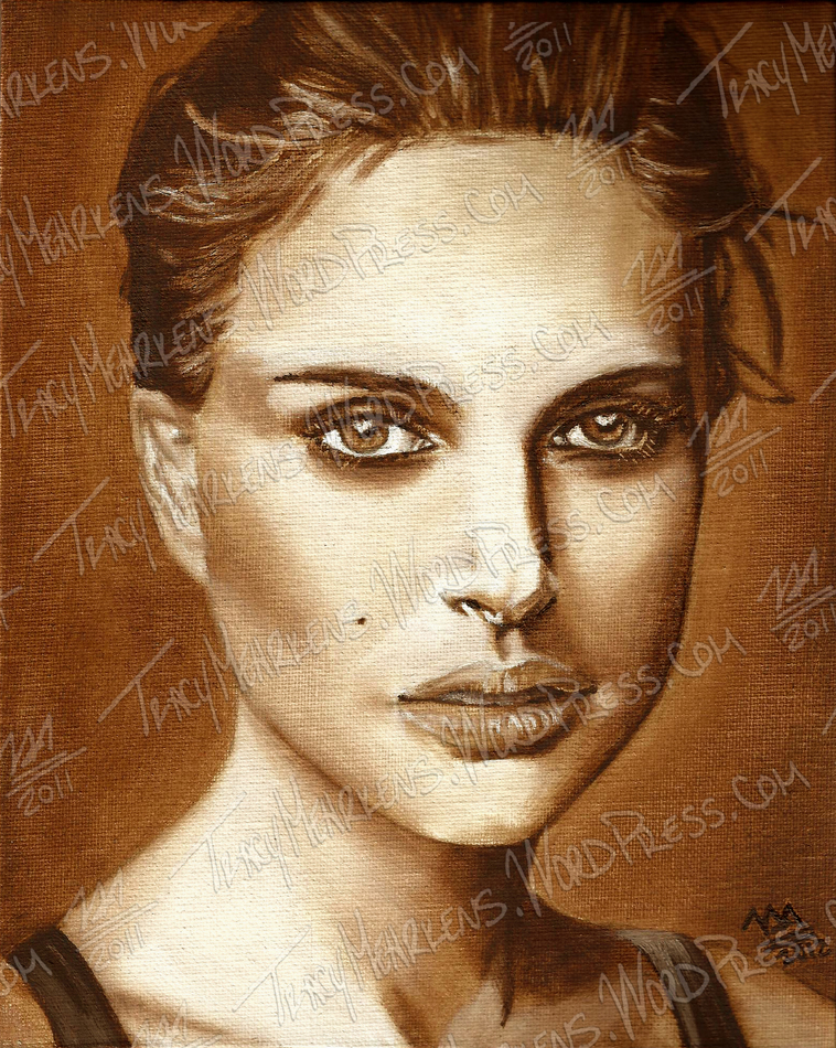 Natalie Portman. Oil on Canvas Panel. 8x10 in. 2012.