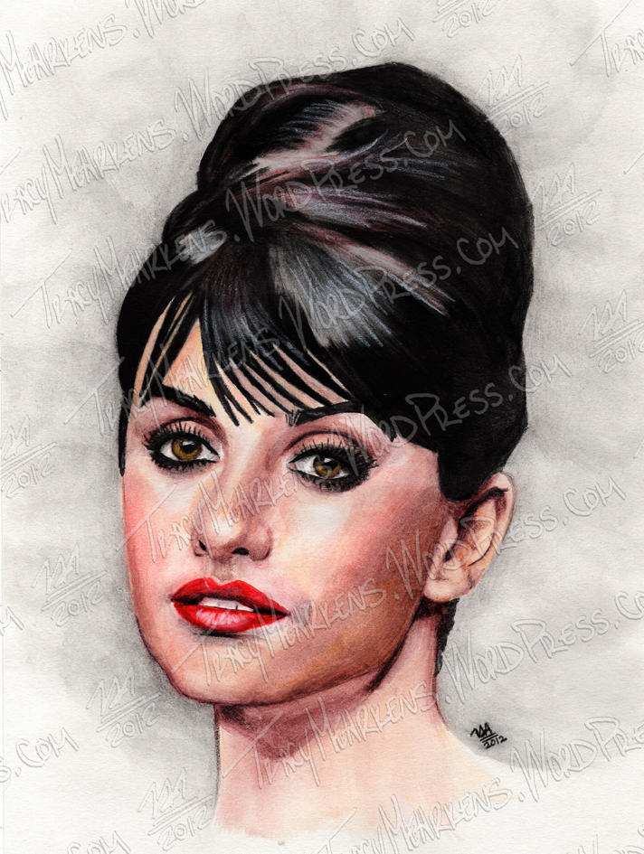 Penelope Cruz. Watercolor on Paper. 2012.