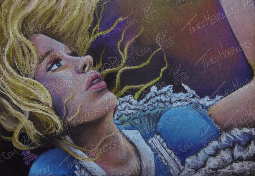 Fallen. Pastel on Matboard. 7x5 in. 2016.