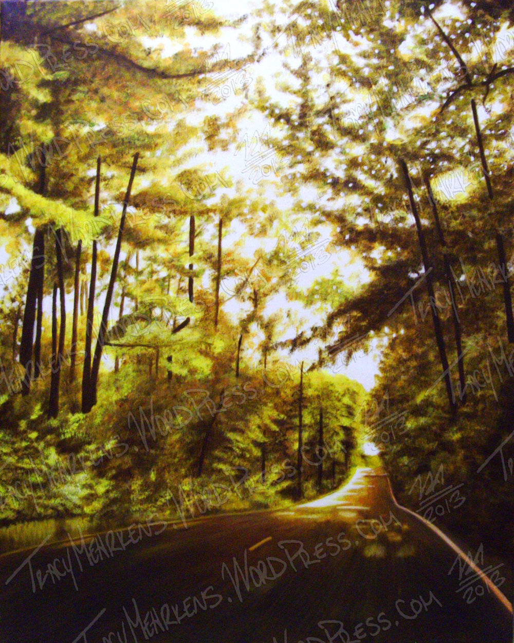Copy of The Hallowed Road. Oil on Canvas. 24x30 in. 2013.