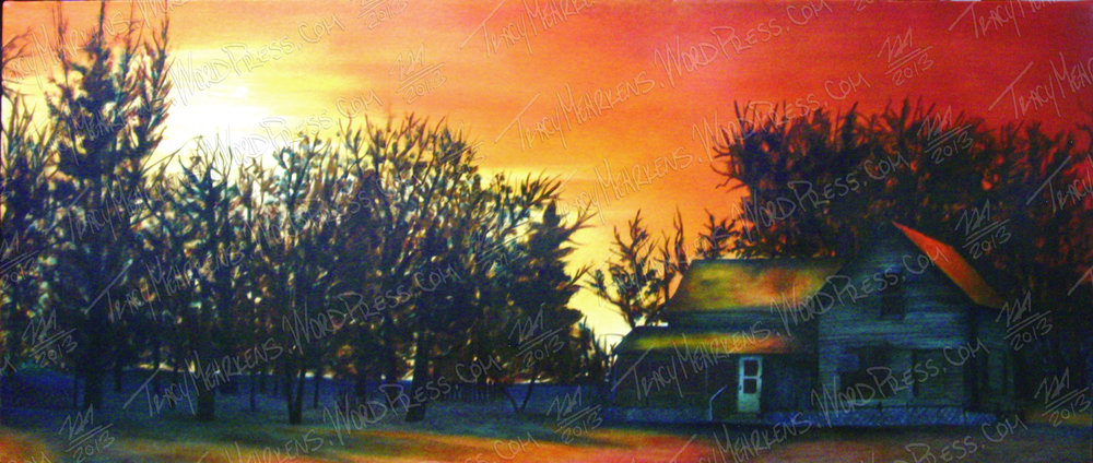 Copy of Wondrous Morning. Oil on Canvas. 48x20 in. 2013.