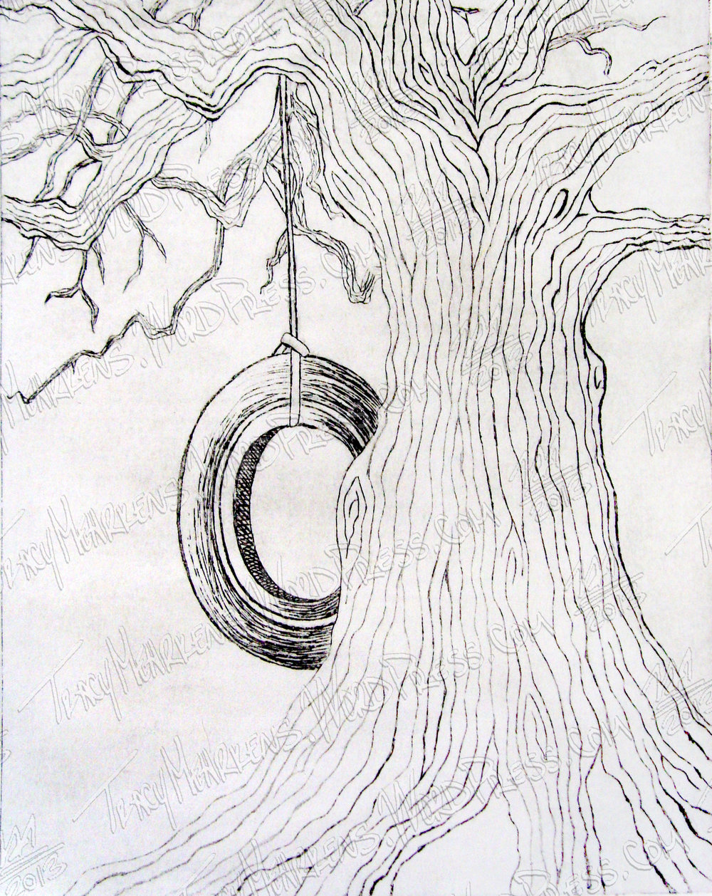 Copy of Tree. Ink on Paper. 2013.