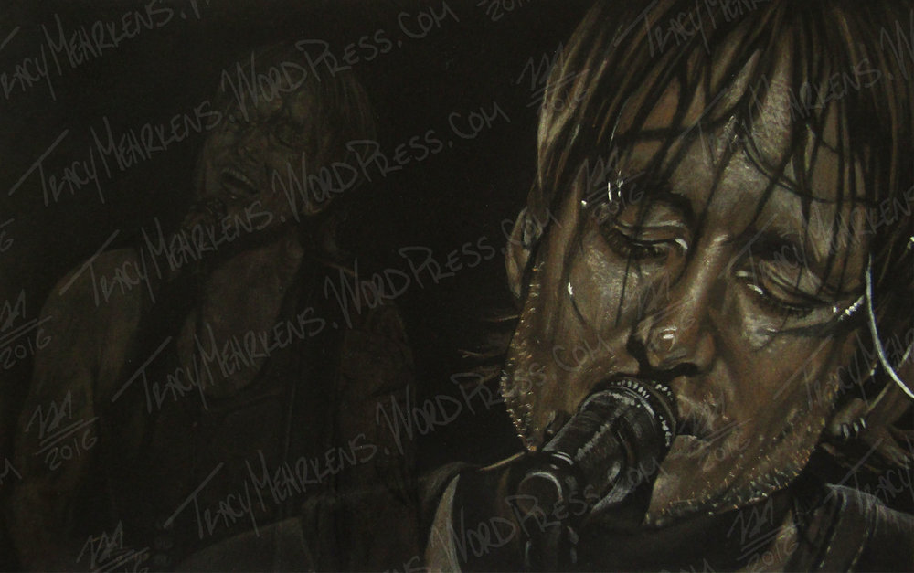 Keith Urban. Pastel on Paper. 11x7 in. 2016.