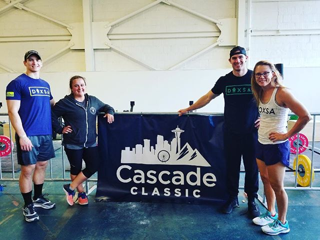WAY TO GO @kuykendb9 @david_limanni @sabinmelissa and Ronda!!! You four killed it and made DOXSA PROUD! #cascadeclassic2018 #hardworkpaysoff