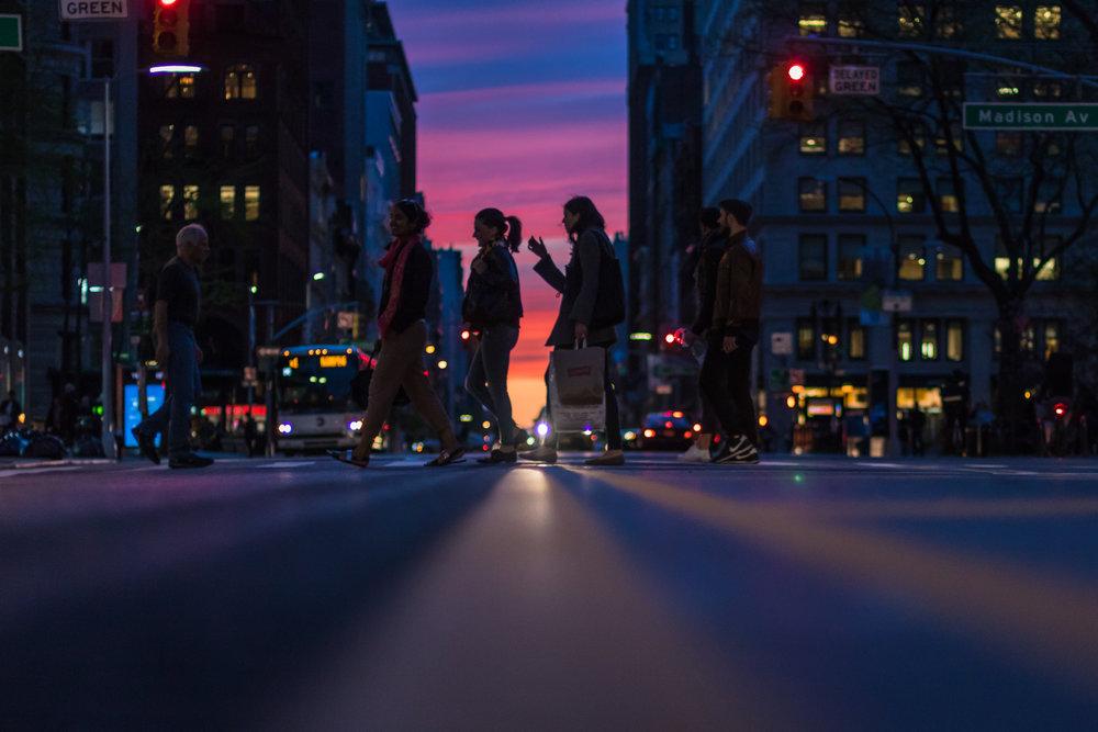 New York City Sunset- Road Trip Photo- Travel Photo- Steve Ettinger