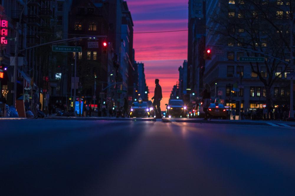 New York City Sunset 2- Travel Photo- Road Trip Photo- Steve Ettinger