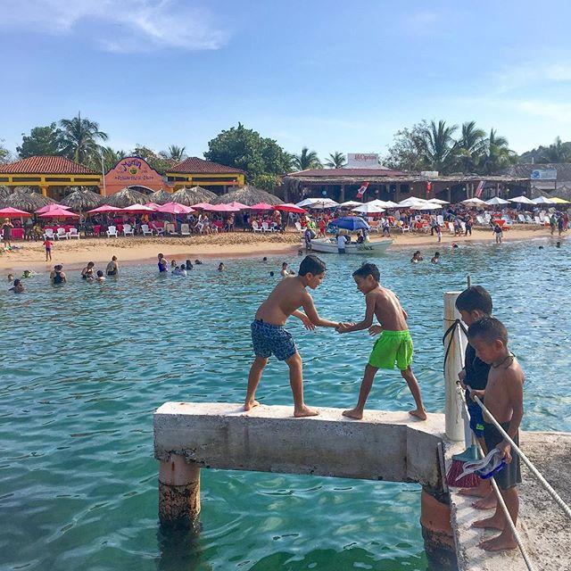 Battle of Balance, water taxi pier, Ixtapa Island. • • • • • • #ixtapa #mexico #ixtapaisland #familyfun #kidswhoswim #travel #iphoneonly #photooftheday #picoftheday #natgeoyourshot