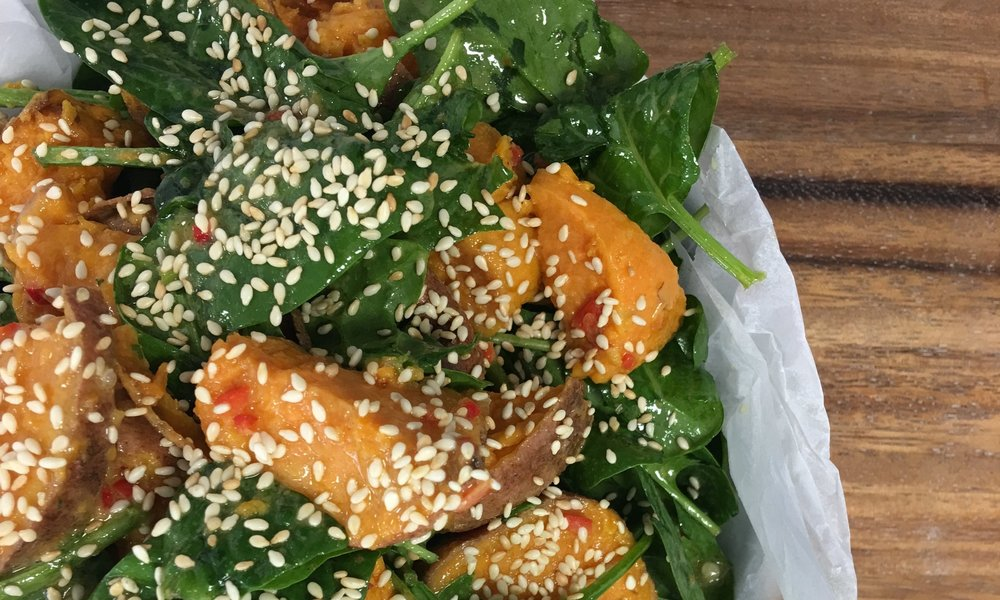 Sweet potato, spinach, sesame.JPG