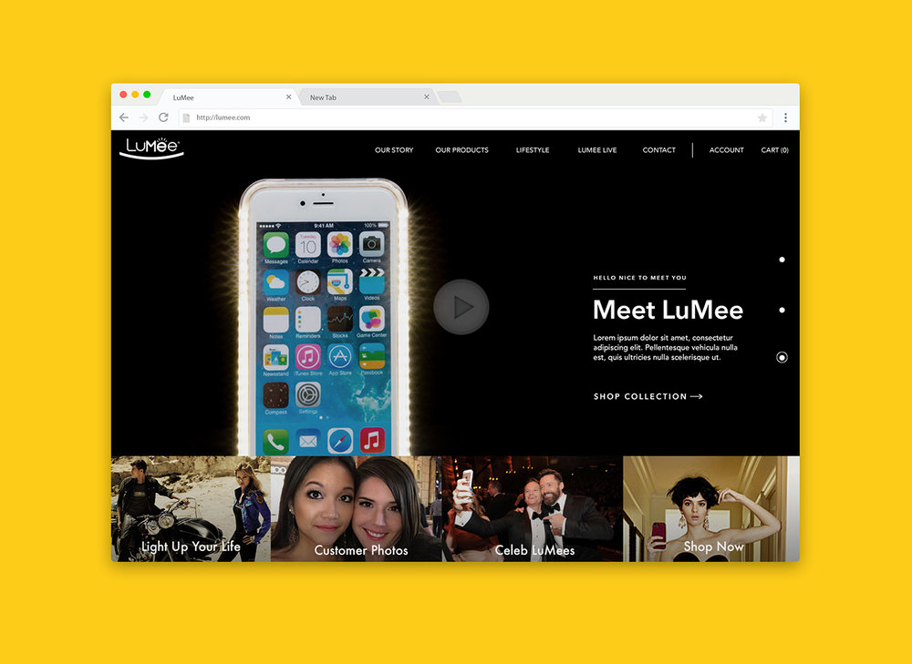 LuMee Website Full Front End + UX/UI Design