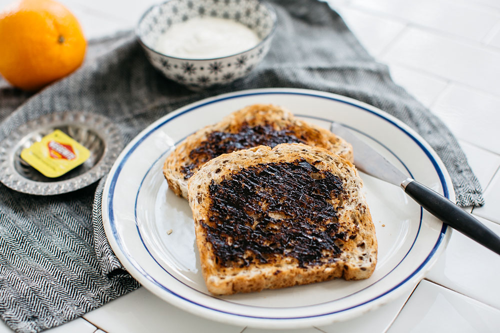 Vegemite Toast and Yoghurt