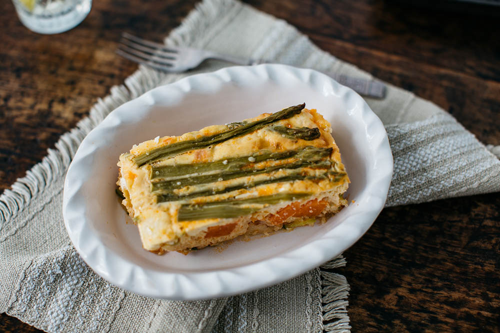 Vegetable Feta Slice