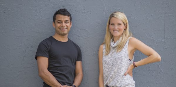 Hit 100 Founder and CEO Karn Ghosh with Brand Manager and Dietitian Anna Debenham.