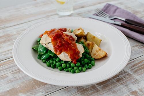 110. Roast Chicken with Golden Potatoes