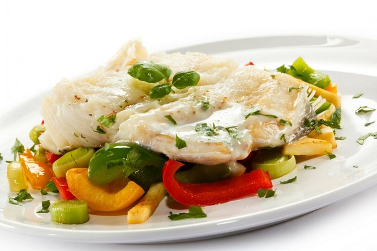 119. Baked Fish with Mornay Sauce