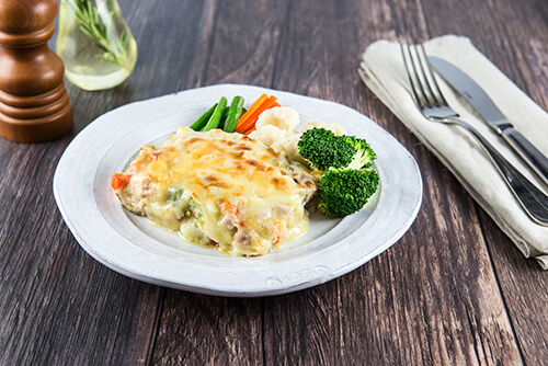 131. Chicken and Vegetable Pasta Bake