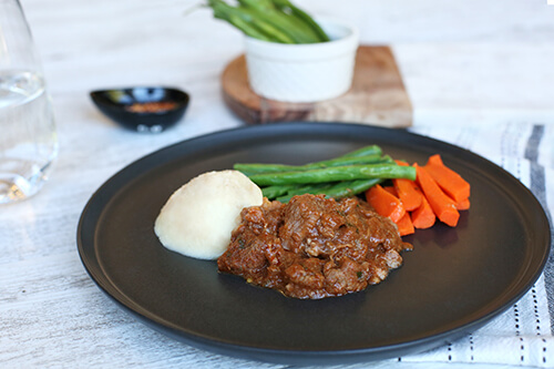 134. Braised Lamb with Tomato & Fenne