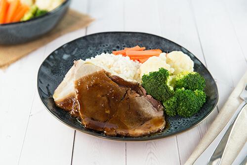 503. Pork Steak with Honey Soy Sauce