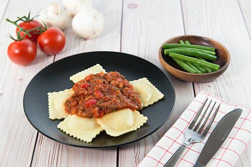 505. Pumpkin Ravioli with Tuscan Sauce