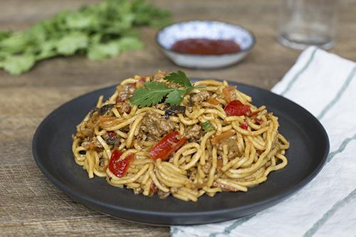 507. Singapore Noodles with Pork Mince