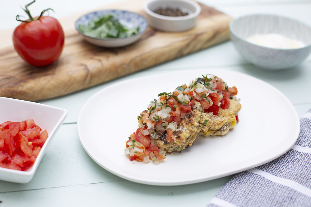 201. Corn Fritters with Salsa