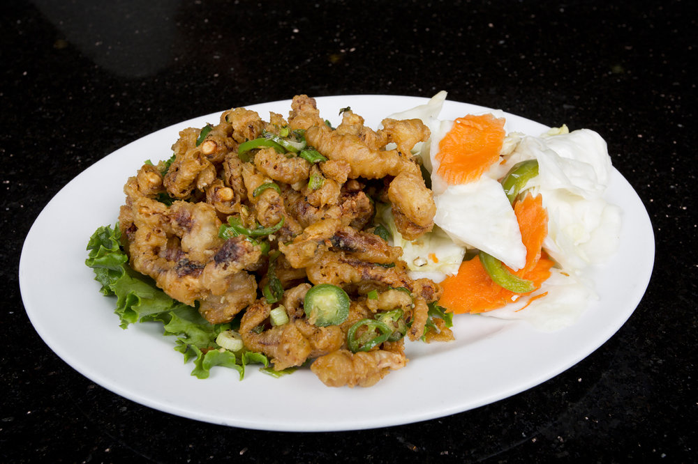 FRIED SQUID WITH SPICY PEPPER