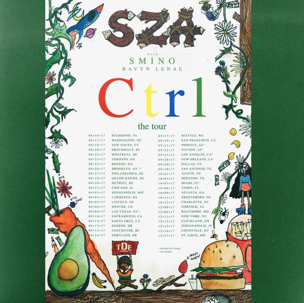 SZA, Ctrl, the tour