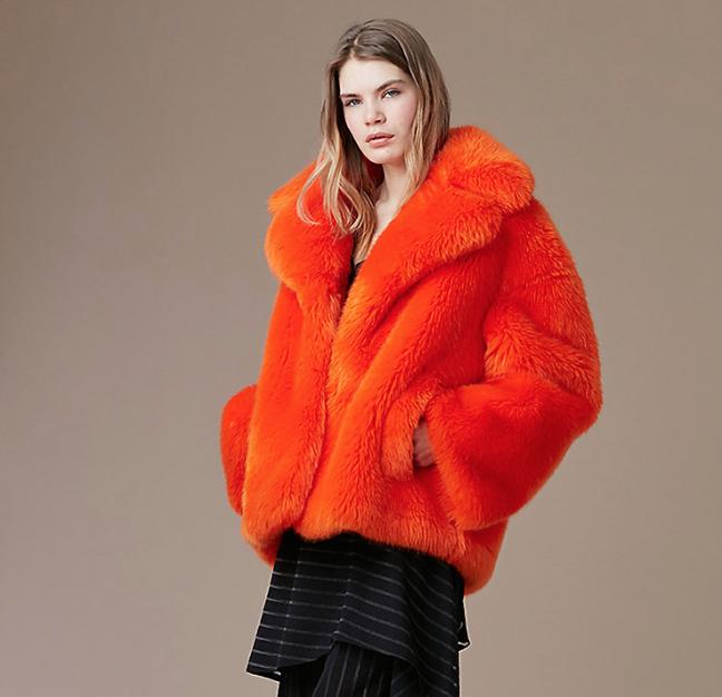 Diane Von Furstenberg : Faux Fur Collared Jacket , $598.00