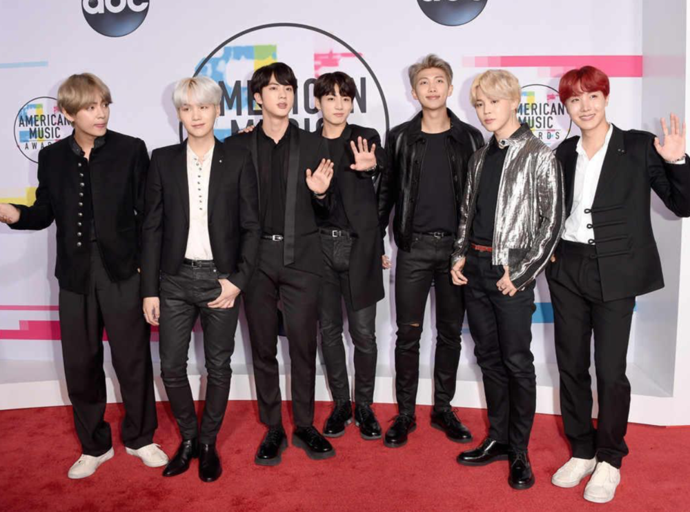 Image Source, J. Merritt/ Getty Images -  (Left to Right: V, Suga, Jin, Jungkook, RM, Jimin, JHope)