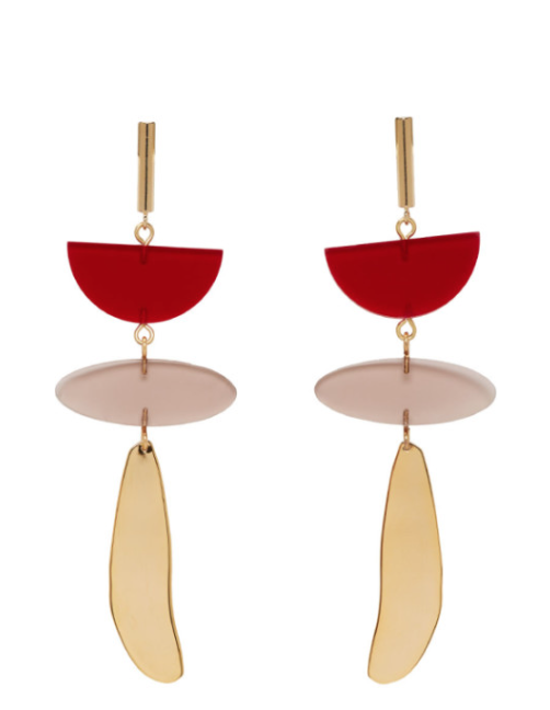 Isabel Marant Red Other Potatoes Earrings $250.00