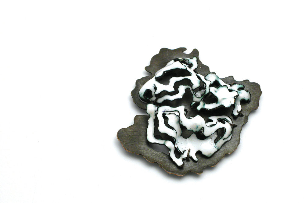 submerged brooch, contemporary jewelry