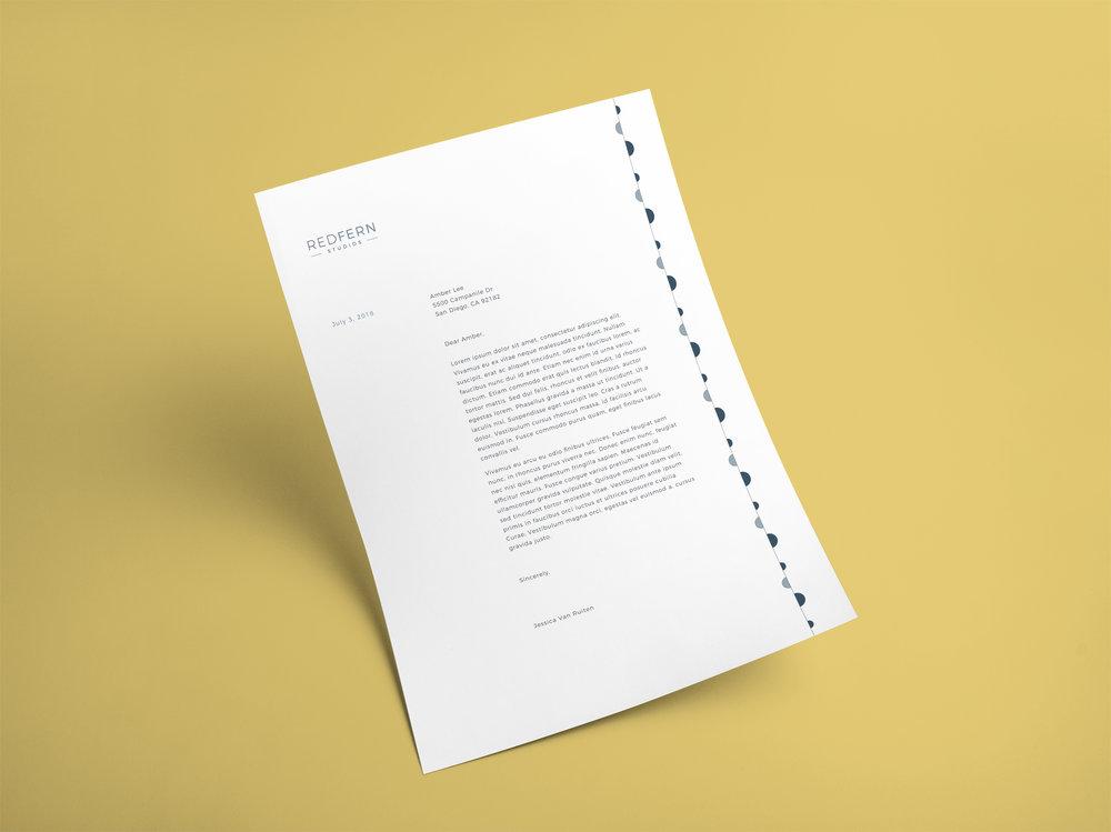 letterhead, redfern studios