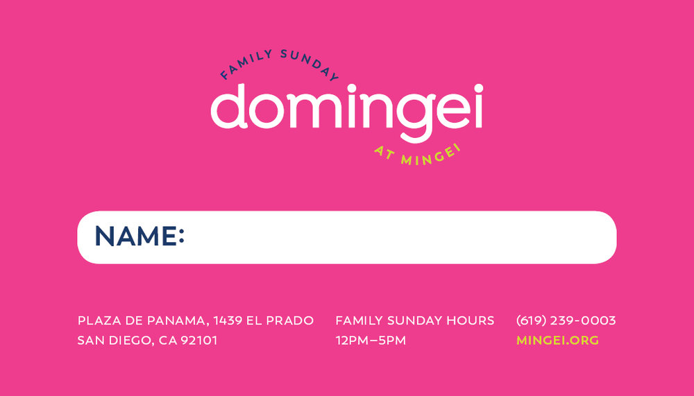 back of frequent family pass, domingei