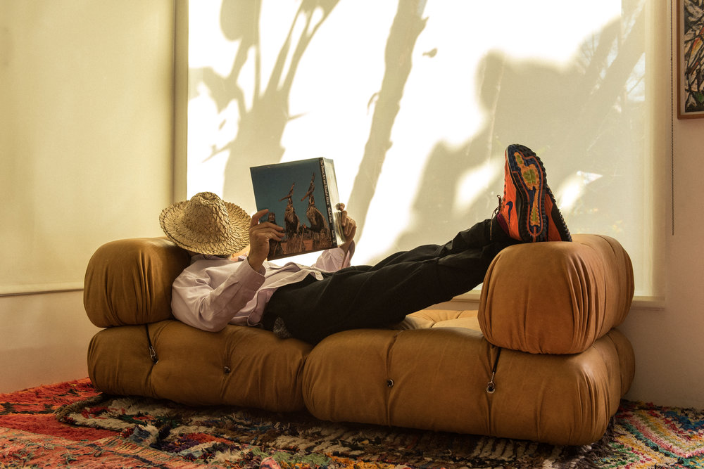 Stefan Simchowitz at his home in LA. (Photography by Cameron Gardner)