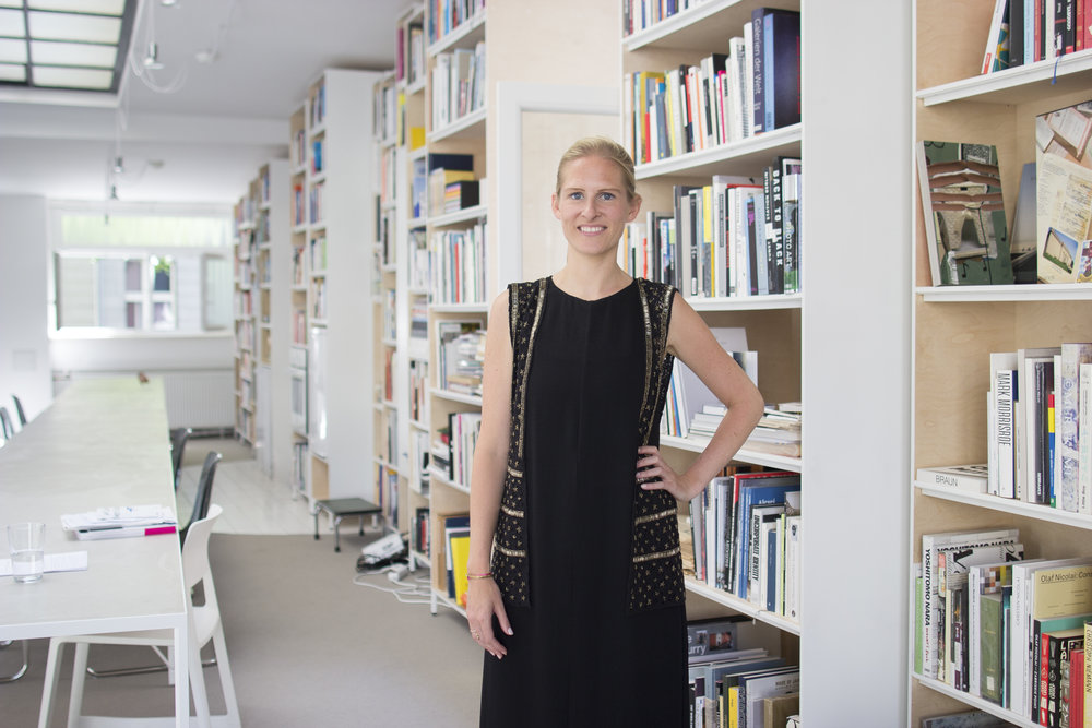 Karoline Pfeiffer at the Independent Collectors office in Berlin.