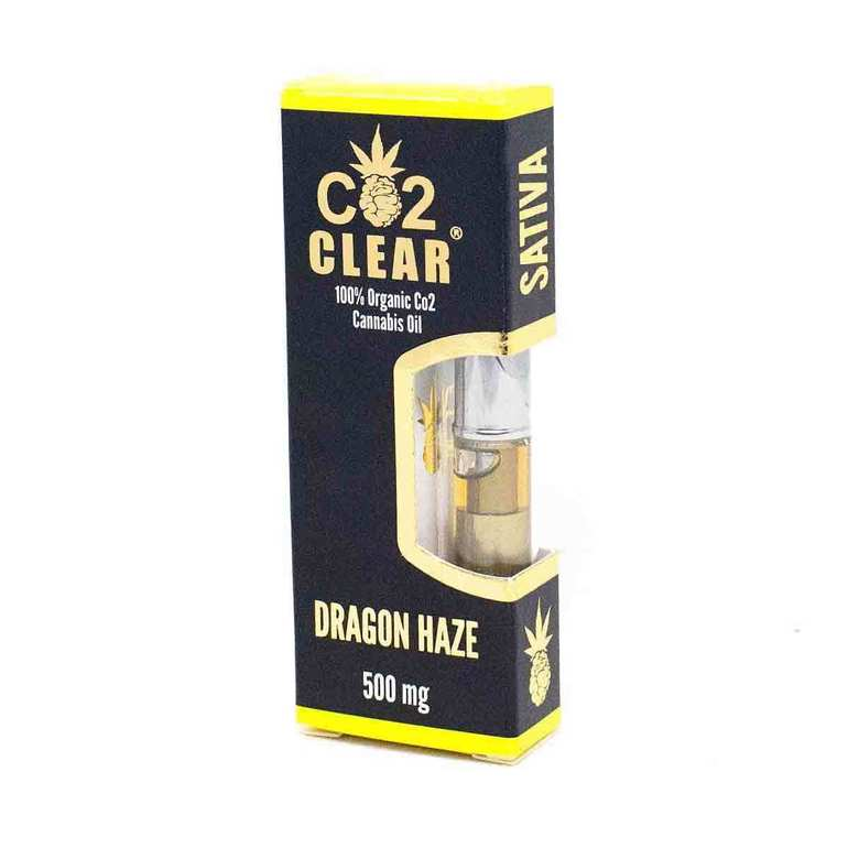 Dragon Haze Cartridge by Co2 Clear contains our 100% organic CO2 extracted THC oil processed from sativa strain Dragon Haze.Zeki Farm's Dragon haze flower came 2nd place at the 2016 High Times Cannabis Cup and we are extremely happy to have it in oil form now. The flavor is more of a citrus flaovr and its effects are uplifting feeling with a smooth finish. Co2 Clear Carts are always free of waxes and lipids, universal 510 threaded, and designed to produce huge clouds of vapor for a satisfying hit, every time!