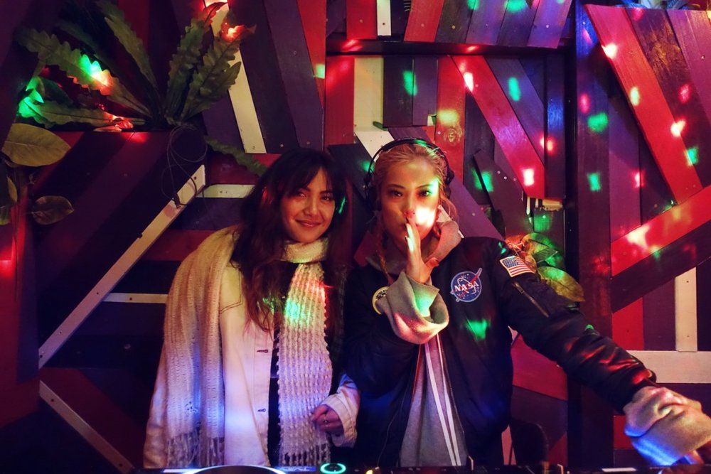 June 2016 - The first time I ever DJ'ed at the Lord Gladstone. This was deep into Sydney winter because I remember I couldn't feel my fingers haha. That's my friend  Tiara  on the left she is a gem.
