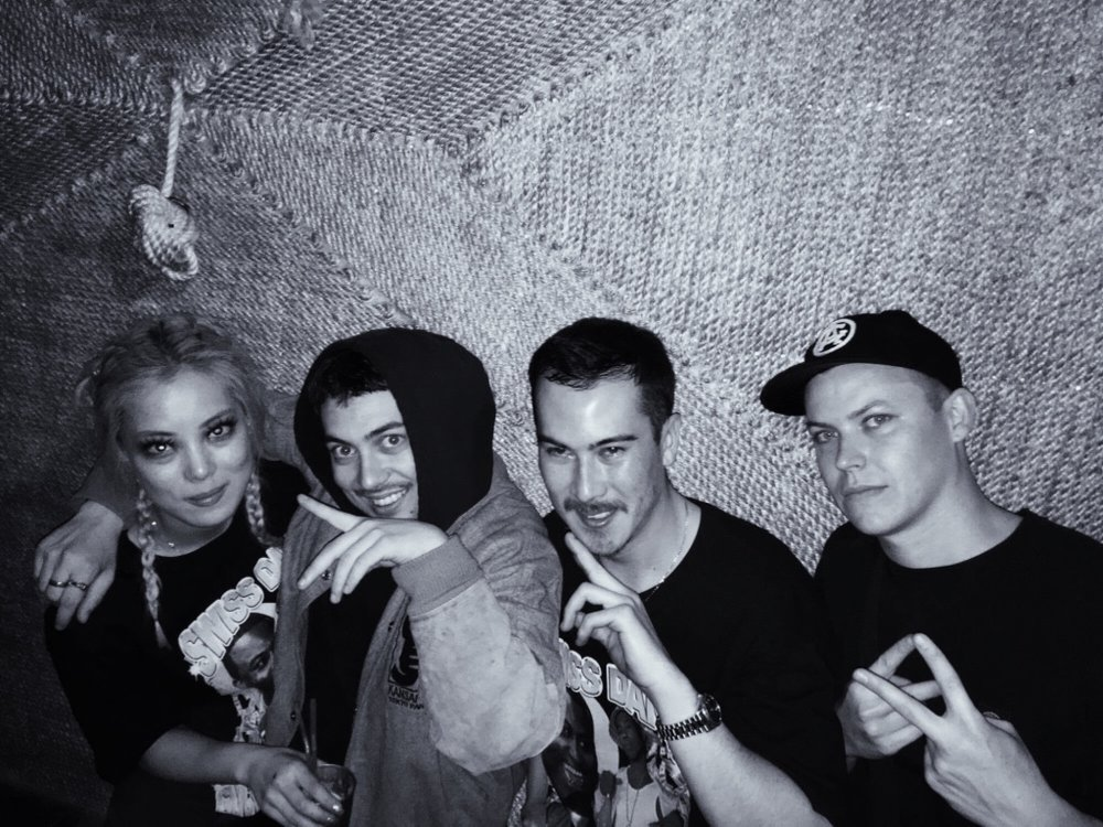 August 2016 - Black and white for a VERY GOOD REASON. I DJ with these boiz ( Cass ,  Sean  and  Mace ) a lot and it is always a hoot. They also play the best rap music in Sydney #fact.