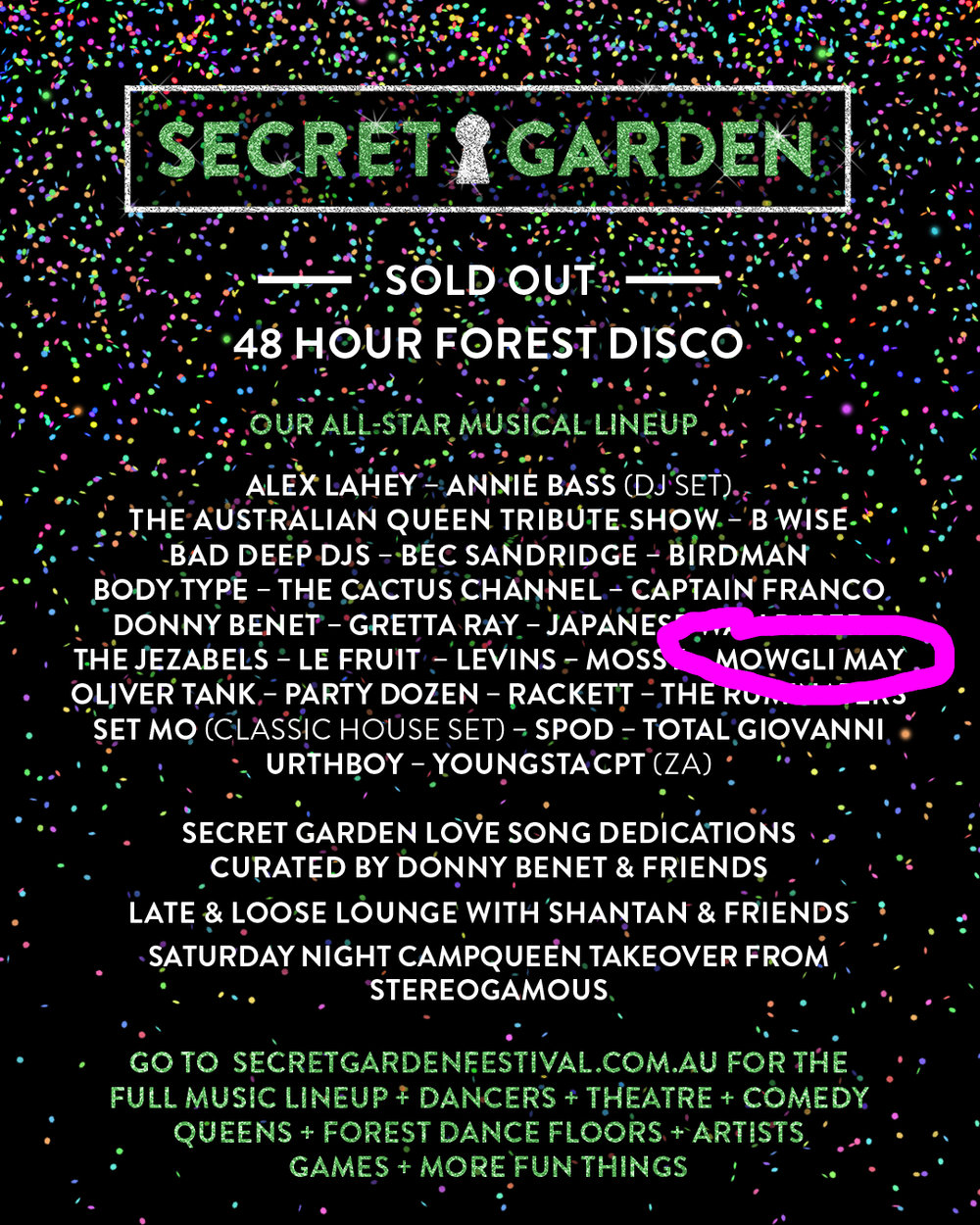 December 2016 - The lineup announcement for Secret Garden Festival! I am playing my first festival ! Feels so surreal YET AGAIN even though I knew it was happening to see it on the poster is something else.