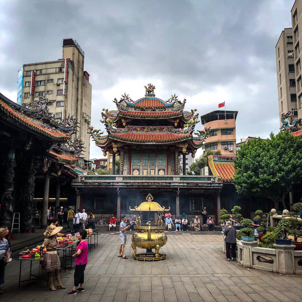Tempelanlage in Taipeh