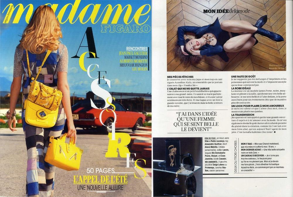 MADAME FIGARO 13 mars 2015 Cover.jpg