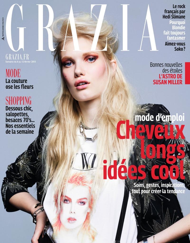 Grazia février 2015 -) Clara Jasmine - cover