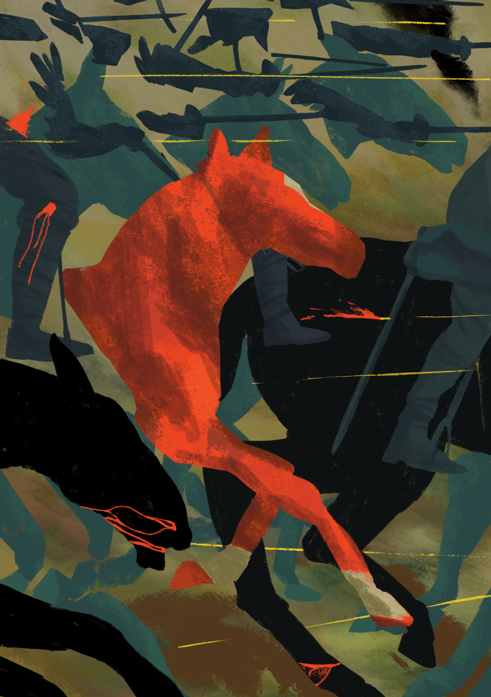 War Horse : 'Charge'   Longlisted for Folio Society Illustration Competition 2016