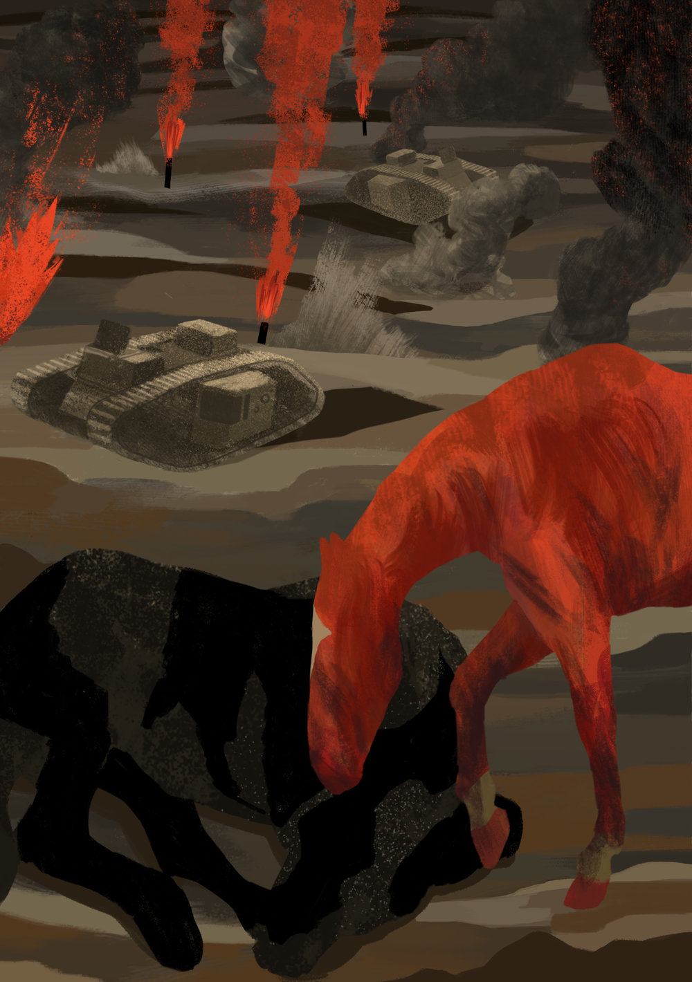 War Horse : 'Vigil' Longlisted for Folio Society Illustration Competition 2016