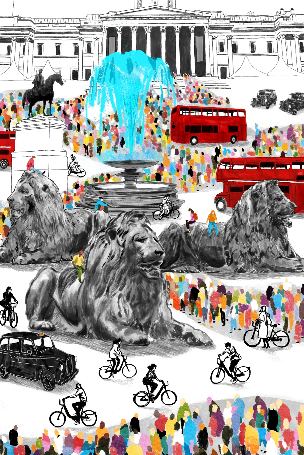 'Trafalgar Square'   Longlisted for AOI Illustration Competition 2015