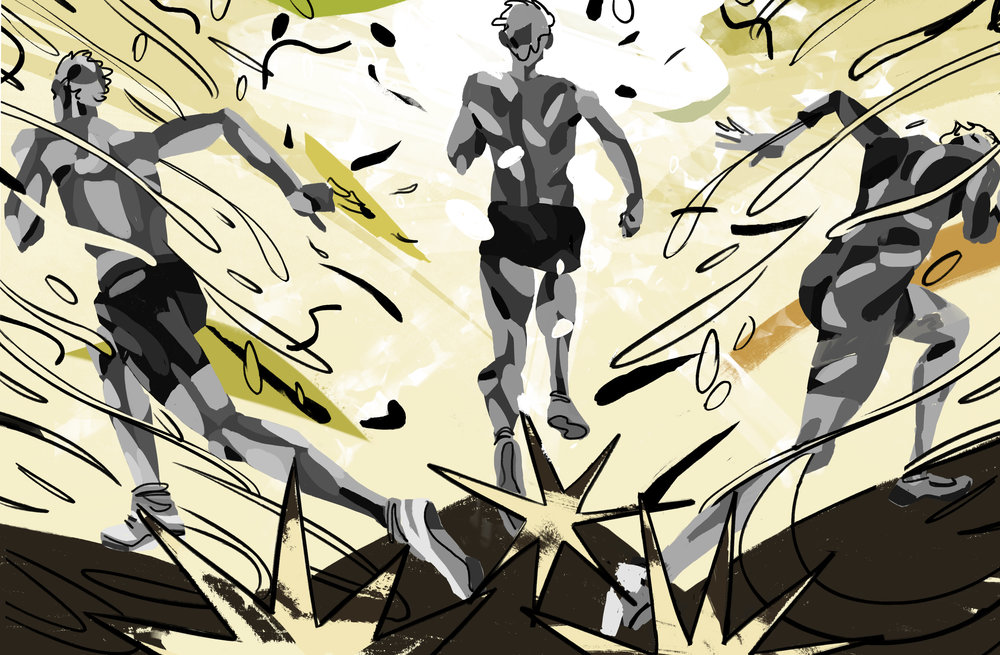 'Runners'   Part of 'Sports Illustrated' personal project