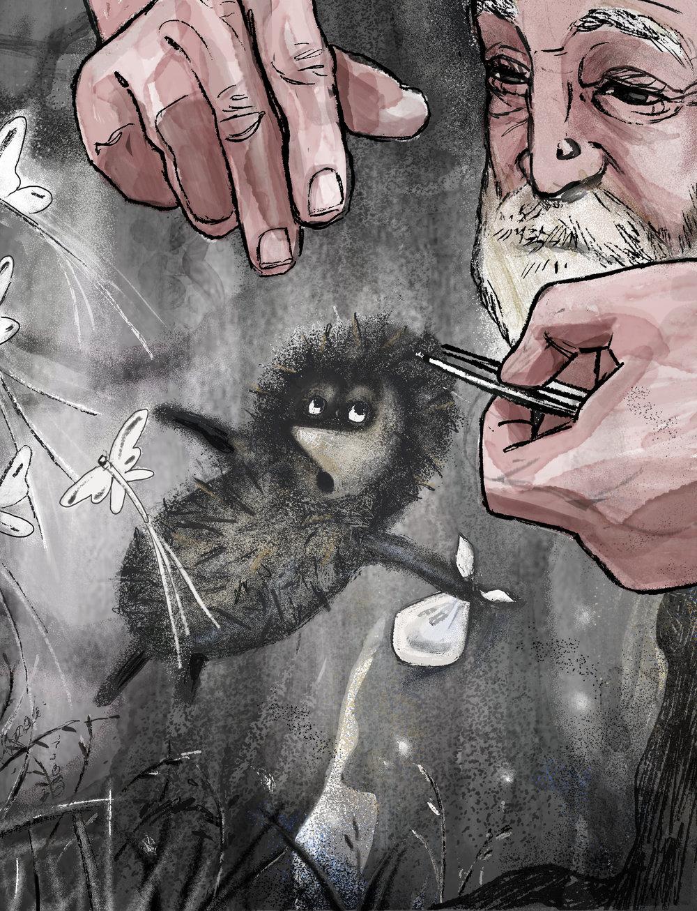 'Hedgehog in the Fog'  For   Shelf Heroes Magazine   2018