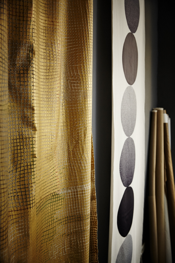 FABRICS INTERIOR   screen print/ cotton and tyvek